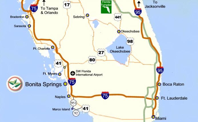 Florida Freshwater Springs Map.Bonita Village About Bonita Springs